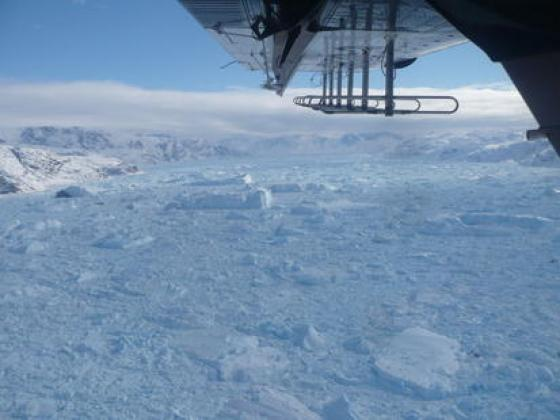 Icebergs and Sea Ice Helheim Glacier